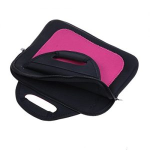 """Pink10.1"""" Neoprene Notebook Laptop Sleeve Case Bag with Handle For 10.1 inch ACER Aspire Switch 10.1 / LENOVO MIIX 300 / HP Pavilion X2 / ASUS Transformer Book T100HA 10.1"""" 2 in 1 / ACER Aspire Switch 10.1"""""""
