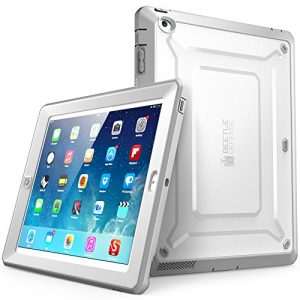 iPad Case, SUPCASE [Heavy Duty] Apple iPad Case [Unicorn Beetle PRO Series] Full-body Rugged Hybrid Protective Case Cover with Built-in Screen Protector for the New iPad 4 & 3 (3rd and 4th Generation with Retina Display) / iPad 2, Dual Layer Design + Impact Resistant Bumper (White/Gray)