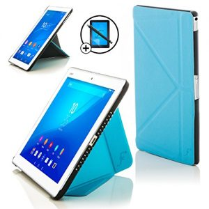 Forefront Cases® New Origami Case Cover for Sony Xperia Z4 Tablet 10.1 SGP771 (Released June 2015) - Full device protection made with PU Leather and Smart Auto Sleep Wake function with 3 YEAR FOREFRONT CASES WARRANTY + STYLUS & SCREEN PROTECTOR