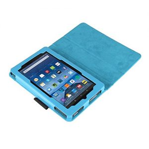 Amazon fire case,Standing case for kindle fire 7 Tablet (Fire 7'' Display 5th generation,2015 Release Only),Color (Light Blue)