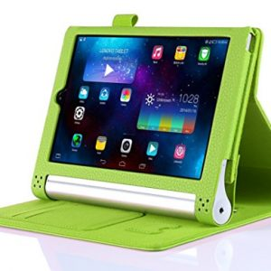 "iHarbort® Lenovo Yoga Tablet 2 10 Case - Ultra Slim Lightweight Smart Cover Holder Stand Leather Case for Lenovo Yoga Tablet 2 10, With Smart Auto Wake / Sleep (Lenovo Yoga Tablet 2 10"", Green)"