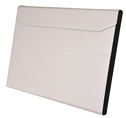 IVSO Apple iPad Pro 12.9-Inch Aluminum Bluetooth Keyboard Portfolio Case - ALUMINUM Bluetooth Keyboard Stand Case / Cover for Apple iPad Pro 12.9-Inch Tablet(White)