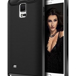 Galaxy Note 4 Case, Coolden® Slim Armor Case Galaxy Note 4 Defender Protective Case Cover Soft TPU Shock Absorption Bumper All Around Protection Premium Case Cover for Samsung Galaxy Note 4(Black)