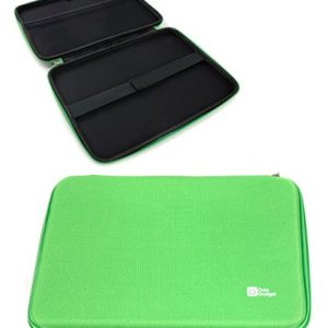 "DURAGAGDET Bright Green 8"" Tough Water-Resistant EVA Zip Case for New Sony Xperia Z3 Tablet Compact - with Internal Elasticated Strap & Soft Inner Lining"