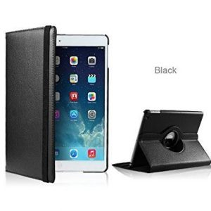 DN-Technology Apple iPad Air 360 Degree Rotating Black Smart Premium Leather Flip Wallet Stand Case Cover