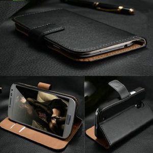 Sell-Ideas® Samsung Galaxy S4 SIV, S3 SIII , S4 mini, S3 mini and Galaxy Note 3 III Wallet Case Cover Pouch With Free Screen Protector and Mini Stylus (Samsung Galaxy Note 3 III, Premium Black Case)
