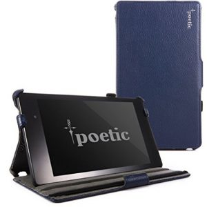 Poetic StrapBack Case for Google Nexus 7 2nd Gen 2013 Android Tablet Navy Blue (3 Year Manufacturer Warranty From Poetic)