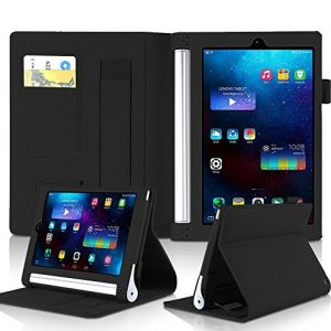Lenovo Yoga Tab 2 8.0 Case, Vikoo PU Leather Stand Folding Tablet Case with Card Holder / Hand Strap for Lenovo Yoga Tab 2 8.0 Inch(Black)