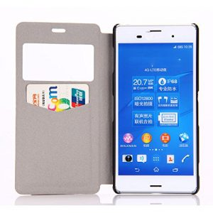 Atdoshop View Window Leather Case Cover for Sony Xperia Z3 (Smiling Teeth)