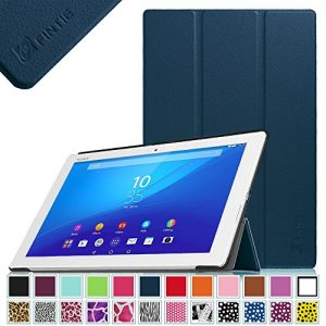Fintie Sony Xperia Z4 Case - PU Leather Slim Fit SmartShell Stand Cover with Auto Wake / Sleep for Sony Xperia Z4 10.1 -Inch 2015 Android 5.0 Tablet-PC, Navy