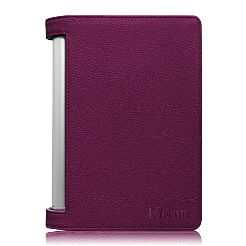 Fintie Lenovo YOGA 2 8 inch Tablet Folio Case Cover with Auto Sleep / Wake Feature (Only Fit Lenovo YOGA 2 8 inch Tablet), Purple