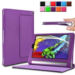 Infiland Lenovo Yoga Tablet 2 8.0 tablet Case Cover- Folio PU Leather Slim Stand Case Cover for Lenovo Yoga Tablet 2 8-Inch (with Auto Sleep / Wake Feature)(Purple)