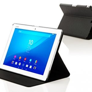 Forefront Cases® New Clam Shell Case Cover for Sony Xperia Z4 Tablet 10.1 SGP771 (Released June 2015) - Full device protection and Smart Auto Sleep Wake function with 3 YEAR FOREFRONT CASES WARRANTY + STYLUS & SCREEN PROTECTOR