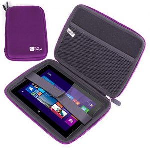 DURAGADGET Premium Quality Purple Water Resistant Hard Armoured Shell Case With Internal Netted Pouch For NEW Linx 1010 | 1010B | 10 | 1020 Tablets