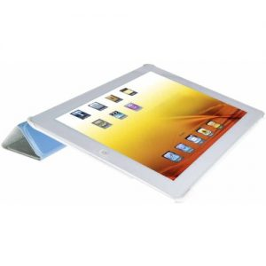 V7 Slim Tri-Fold Folio Stand case with smart cover with sleep/wake function for iPad/2/3/4 Blue