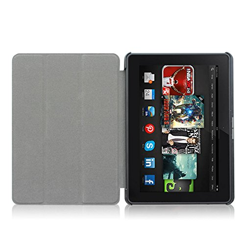 """Fintie Kindle Fire HDX 8.9 Slim Shell Case - Ultra Slim Lightweight Leather Standing Cover (will fit Amazon Kindle Fire HDX 8.9"""" Tablet 2014 4th Generation and 2013 3rd Generation), Black"""