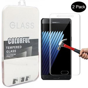 For Galaxy Note 7 Screen Protector,Nakeey HD Tempered Glass Screen Protector,[2 Pack]Tempered Glass Protective Film for Samsung Galaxy Note 7