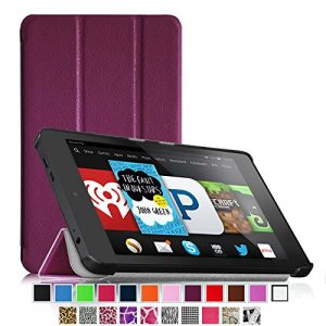 Fintie Fire HD 6 Case - Ultra Slim Lightweight SmartShell Cover with Auto Sleep / Wake Feature (will only fit Amazon Kindle Fire HD 6, 6-Inch HD Display Tablet 4th Generation - 2014 Release), Purple