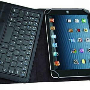 ELTD Lenovo IdeaPad Miix 300 Bluetooth Keyboard Portfolio Case -Detachable Bluetooth Keyboard Leather Cover Case (For Lenovo IdeaPad Miix 300 Tablet, Black)