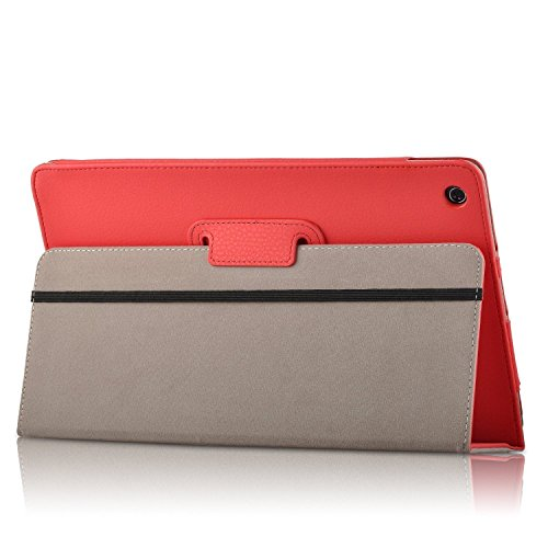 Lenovo Miix 310 10.1 inches Case, iBetter High Quality Leather Keyboard Portfolio Stand Cover Case for Lenovo Miix 310 ,Red