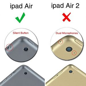 Fintie iPad Air Case - Slim Fit Premium Vegan Leather Folio Case with Smart Cover Auto Sleep / Wake Feature for Apple iPad Air (iPad 5th Generation) 2013 Model, Giraffe Pink