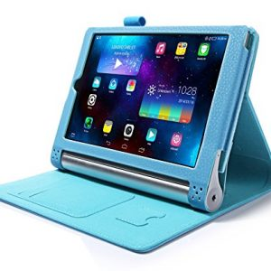 "iHarbort® Lenovo Yoga Tablet 2 8 Case - Ultra Slim Lightweight Smart Cover Holder Stand Leather Case for Lenovo Yoga Tablet 2 8, With Smart Auto Wake / Sleep (Lenovo Yoga Tablet 2 8"", Light blue)"