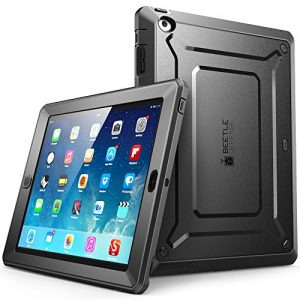 iPad Case, SUPCASE [Heavy Duty] Apple iPad Case [Unicorn Beetle PRO Series] Full-body Rugged Hybrid Protective Case Cover with Built-in Screen Protector for the New iPad 4 & 3 (3rd and 4th Generation with Retina Display) / iPad 2, Dual Layer Design + Impact Resistant Bumper (Black/Black)