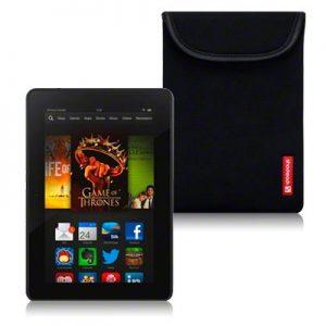 Amazon Kindle Fire HDX Neoprene Case / Sleeve / Pouch / Skin By Shocksock - Black