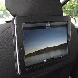 iTALKonline Executive BLACK Wallet FLIP Case Cover with In Car Headrest Mount / Holder For Apple iPad (Wi-Fi and Wi-Fi + 3G) 16GB 32GB 64GB, iPad 2, The New iPad 2011 iPad 3, Retina Display iPad 4 (2012)