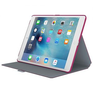 Speck 75761-B920 StyleFolio Case for Apple iPad Pro - Fuchsia Pink/Nickel Grey