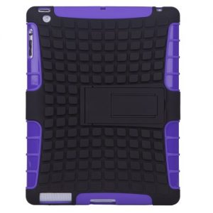 Besdata Heavy Duty Tough Shockproof with Stand Hard Case Cover For Apple iPad Air + Free Stylus Touch Pen + Free Screen Protector + Free Cleaning Cloth - Protects the Device - UK Stock - Purple - PT4205