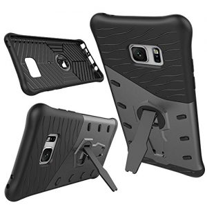 Galaxy Note 7 Case, PEMOTech® [Newly Design] [Silicone Air-cushioned Shock Absorption Shatterproof] [PC Multi-angle Stand] Premium Protective Case for Samsung Galaxy Note 7 (2016)