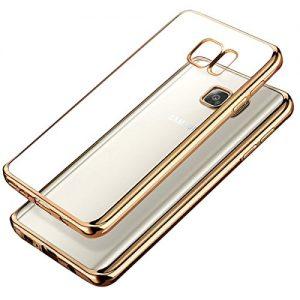 Samsung Galaxy Note 7 Bumper Case , Ubegood Ultra-Thin [Drop Protection]Shock Resistant [Metal Electroplating Technology] Soft Gel TPU Bumper Case for Samsung Galaxy Note 7 Case cover - Gold