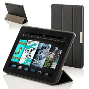Forefront Cases® New Leather Folding Case Cover for Amazon Fire HD 6 Tablet (October 2014) - Full device protection and Smart Auto Sleep Wake function with 3 YEAR Forefront CASES WARRANTY