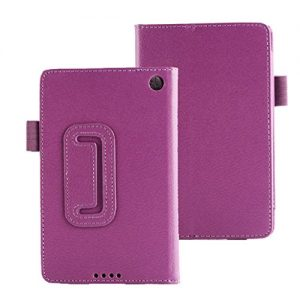 For Amazon Kindle Fire HD 6 Tablet Case Vovotrade® Leather Folio Stand Case Cover (Purple)