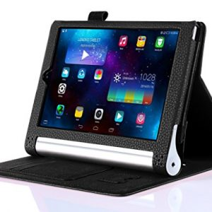 "iHarbort® Lenovo Yoga Tablet 2 8 Case - Ultra Slim Lightweight Smart Cover Holder Stand Leather Case for Lenovo Yoga Tablet 2 8, With Smart Auto Wake / Sleep (Lenovo Yoga Tablet 2 8"", Black)"