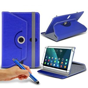 (Blue) Asus ZenPad S 8.0 2 [8 inch ] Case [Stand Cover] forAsus ZenPad S 8.0 2 [8 inch ] Tablet PC Case Cover [Stand Cover] Durable Synthetic PU Leather 360 Roatating cover Case [Stand Cover] with 4 springs by i- Tronixs