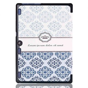 Cuitan Flip PU leather Case for Lenovo Tab 2 X30F A10-30 / Lenovo Tab 2 A10-70, Folio Stand Smart Cover Case Shell Skin with Auto Wake / Sleep Function, Protective Cover & Stylus - Classic Crown