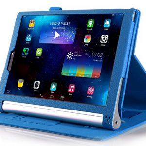 IVSO Lenovo YOGA 2 8-Inch Flip Case - Slim Folio Book Case Cover for Lenovo YOGA 2 8-Inch Tablet (Blue)