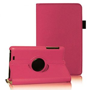 COOVY® 360° DEGREE SMART ROTATING COVER CASE FOR ASUS GOOGLE NEXUS 7 2012 (1. GENERATION) STAND HOUSING PROTECTION color hotpink