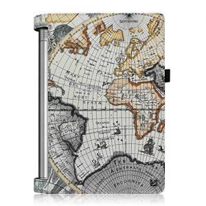 Fintie Lenovo Yoga Tablet 2 10.1 Folio Case Cover with Auto Sleep / Wake Feature (Fit Lenovo Yoga Tablet 2 10.1-Inch Android and Windows Version), Map