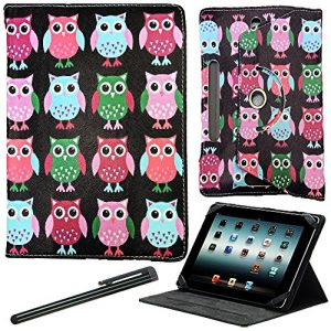 Amazon Kindle Fire HDX 7 Printed Multi Owl Universal Tablet Case Cover 7 Inch By World Of Mobile®