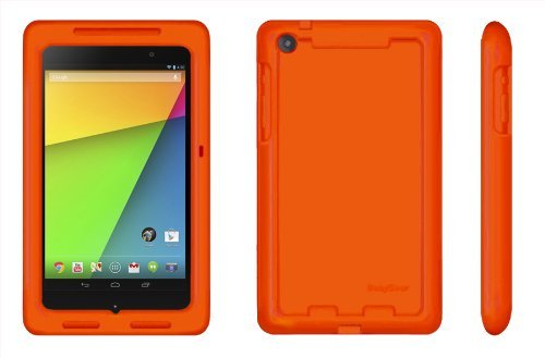 Bobj Rugged Case for Nexus 7 FHD 2013 Model Tablet - BobjGear Protective Cover (Not for 1st Generation 2012 Nexus 7) (Outrageous Orange)