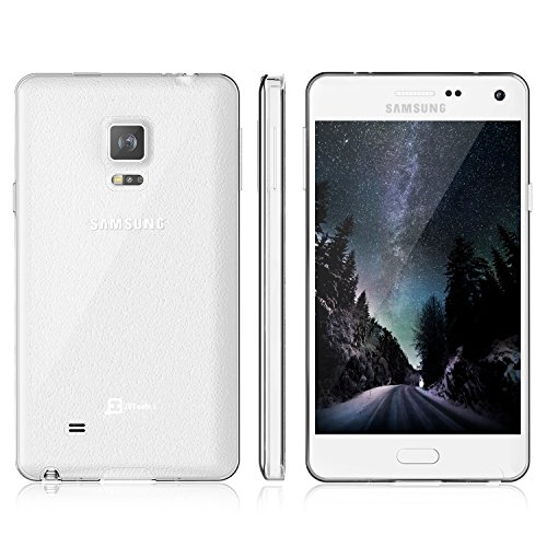 Note 4 Case, JETechSamsung Galaxy Note 4 Case Cover Soft Clear Shock-Absorption Bumper for Samsung Galaxy Note 4 2014 Model, SM-N910S / SM-N910C - Soft Clear