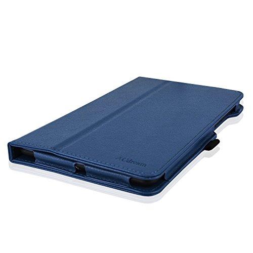 Linx 8 inch / Linx 810 8-Inch Tablet Case, ACdream Premium PU Leather Cover Case for Linx 8 inch Tablet Windows 8 / Linx 810 8-Inch Tablet Windows 10, Dark Blue
