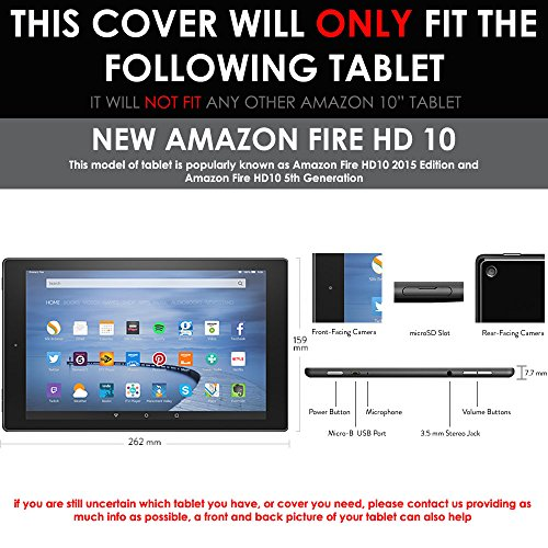 TECHGEAR® Amazon Fire HD 10 (5th Generation/2015 Release) CLEAR LCD Screen Protector With Cleaning Cloth + Application Card (Fire HD10)