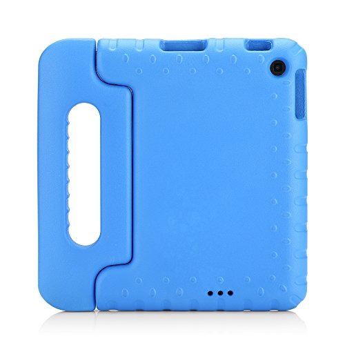 Fire HD 6 Case - MoKo Kids Shock Proof Convertible Handle Light Weight Super Protective Stand Cover for Amazon Kindle Fire HD 6 Inch 2014 Tablet, Blue