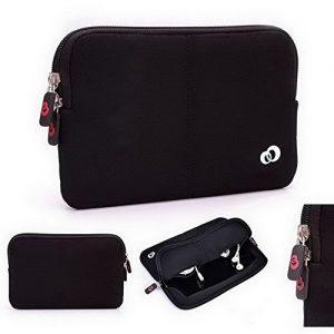 Kroo Neoprene Sleeve Case with Dual Hidden Pocket for Lenovo ThinkPad 10 / Miix 2 10 in Black