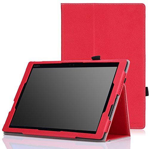 MoKo Sony Xperia Z4 Tablet Case - Slim Folding Cover Case for Sony Xperia Z4 Tablet 10.1 inch 2015 Andriod 5.0 Device, RED