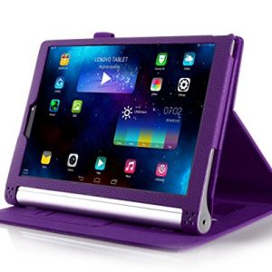 "iHarbort® Lenovo Yoga Tablet 2 8 Case - Ultra Slim Lightweight Smart Cover Holder Stand Leather Case for Lenovo Yoga Tablet 2 8, With Smart Auto Wake / Sleep (Lenovo Yoga Tablet 2 8"", Purple)"